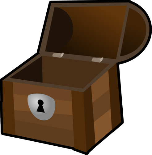 Overfilled treasure chest vectors clipart