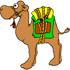 People camels clipart