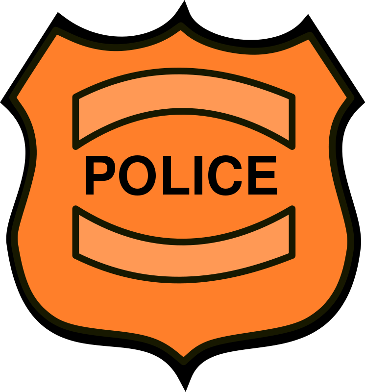 Police officer badge clipart free images 5