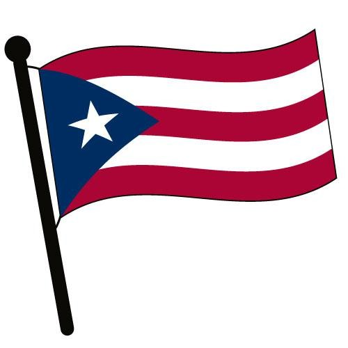 Puerto rico waving flag clip art american pictures