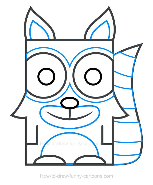 Raccoon clipart 4