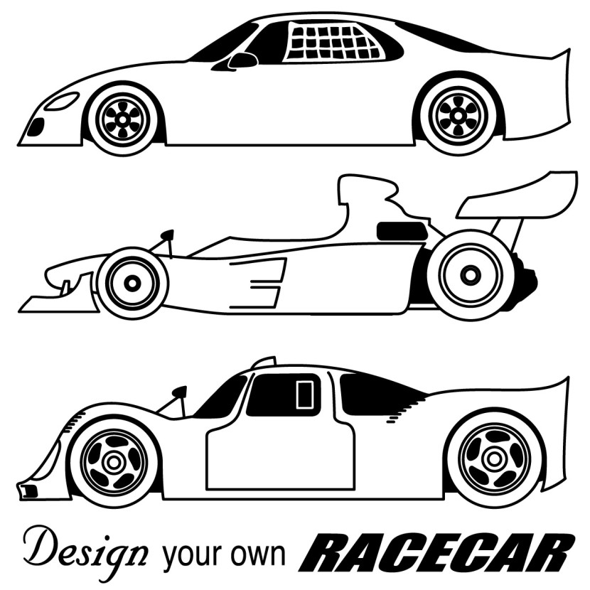 Race car clipart 3