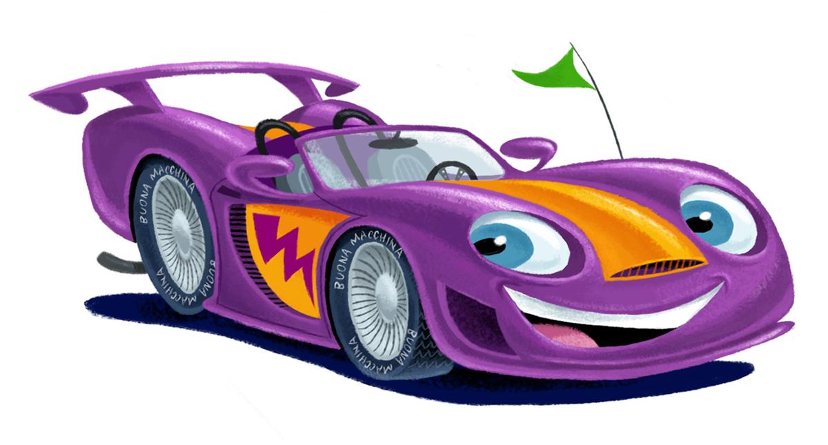 Race car clipart image