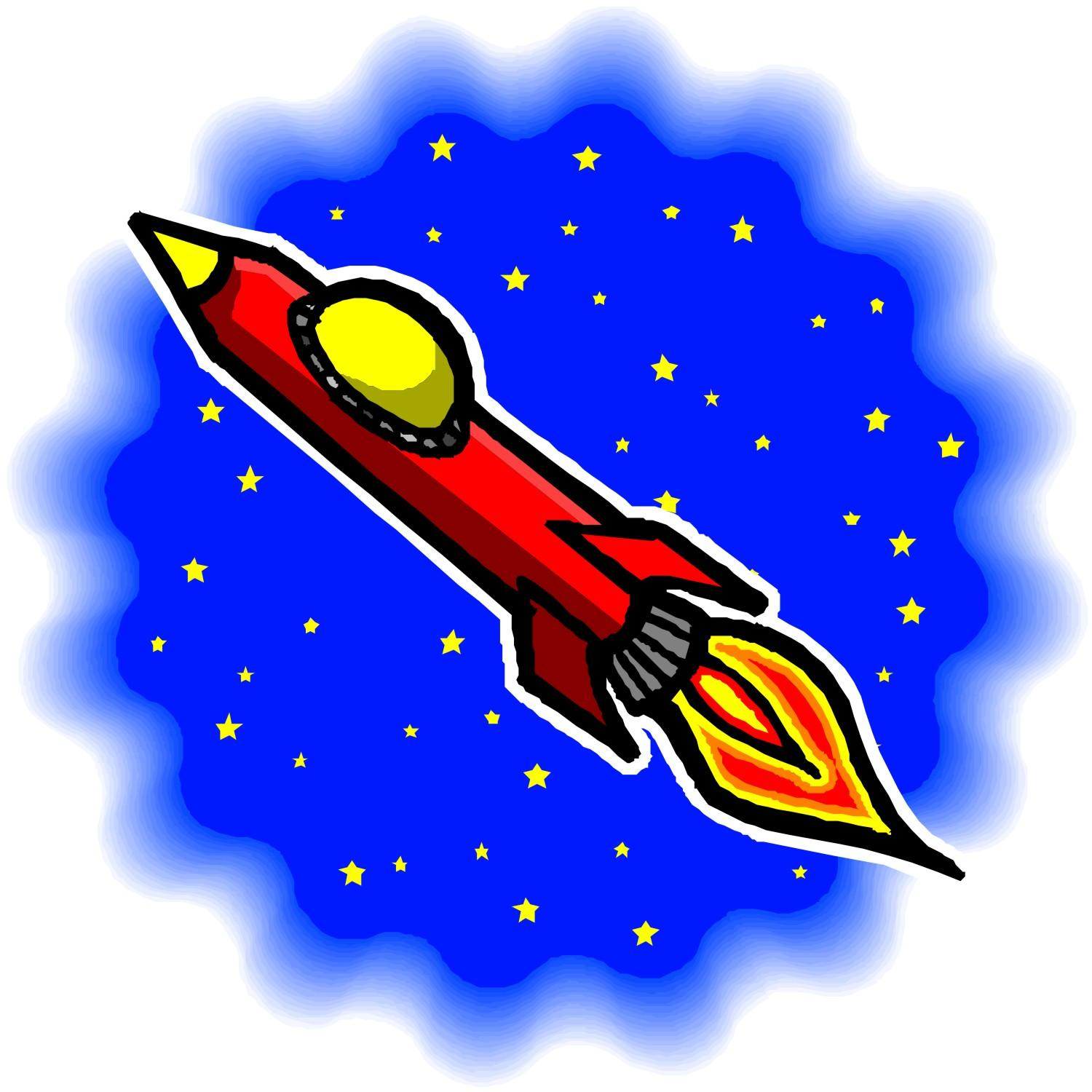 Red rocket clipart