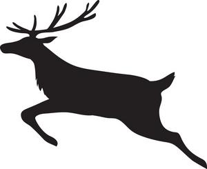 Reindeer clipart image leaping reindeer