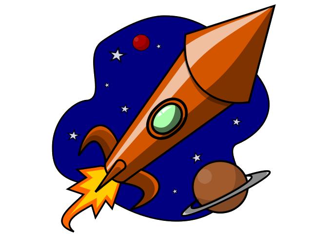 Rocket clipart 4