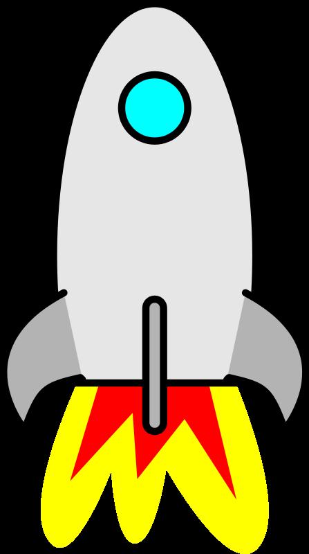Rocket clipart 6