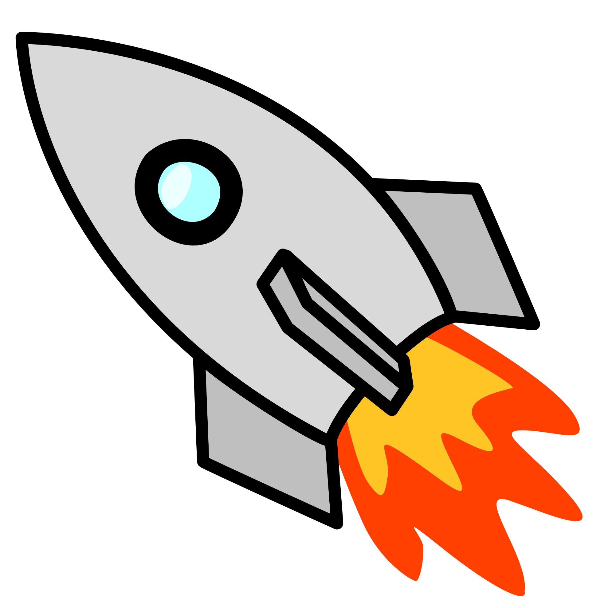 Rocket clipart black and white free images 2