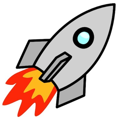 Rocket clipart black and white free images 3
