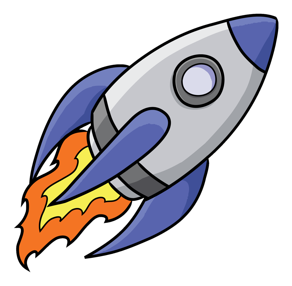 Rocket clipart free images 4