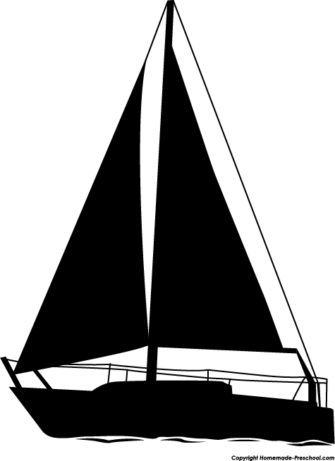 Sailboat silhouette clip art clipartfest 2