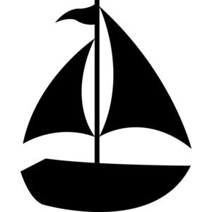 Sailboat silhouette clip art clipartfest