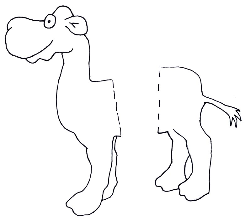 Sally the camel clipart