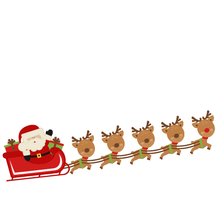 Santa and reindeer clipart
