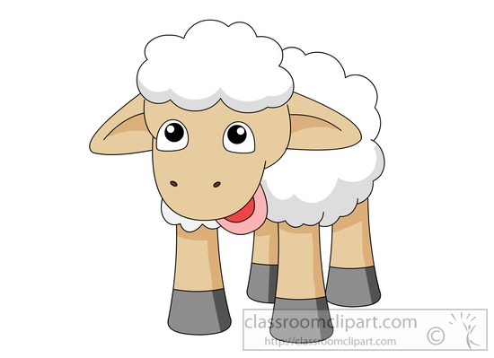 Sheep clipart black and white free images 3