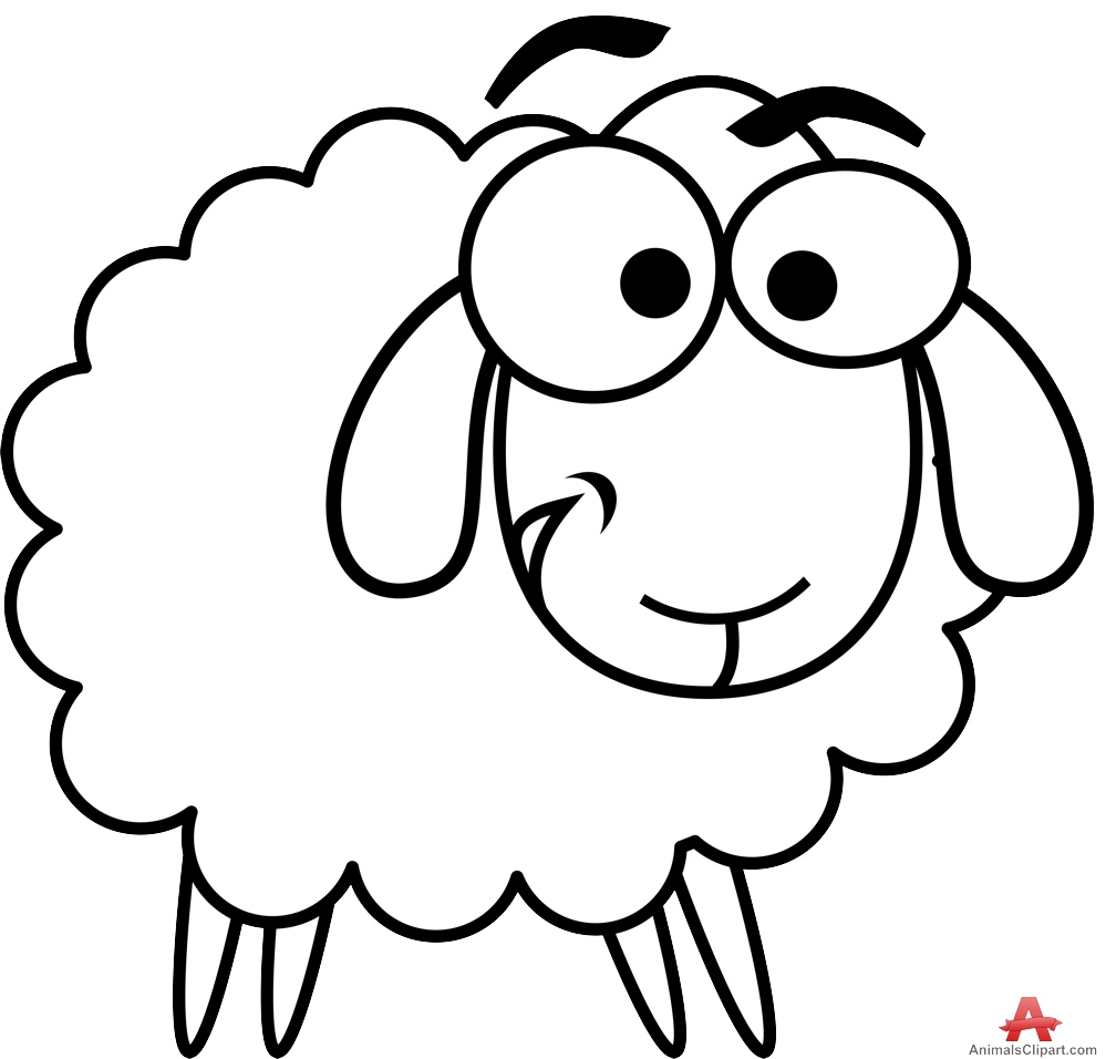 Sheep clipart outline clipartfest