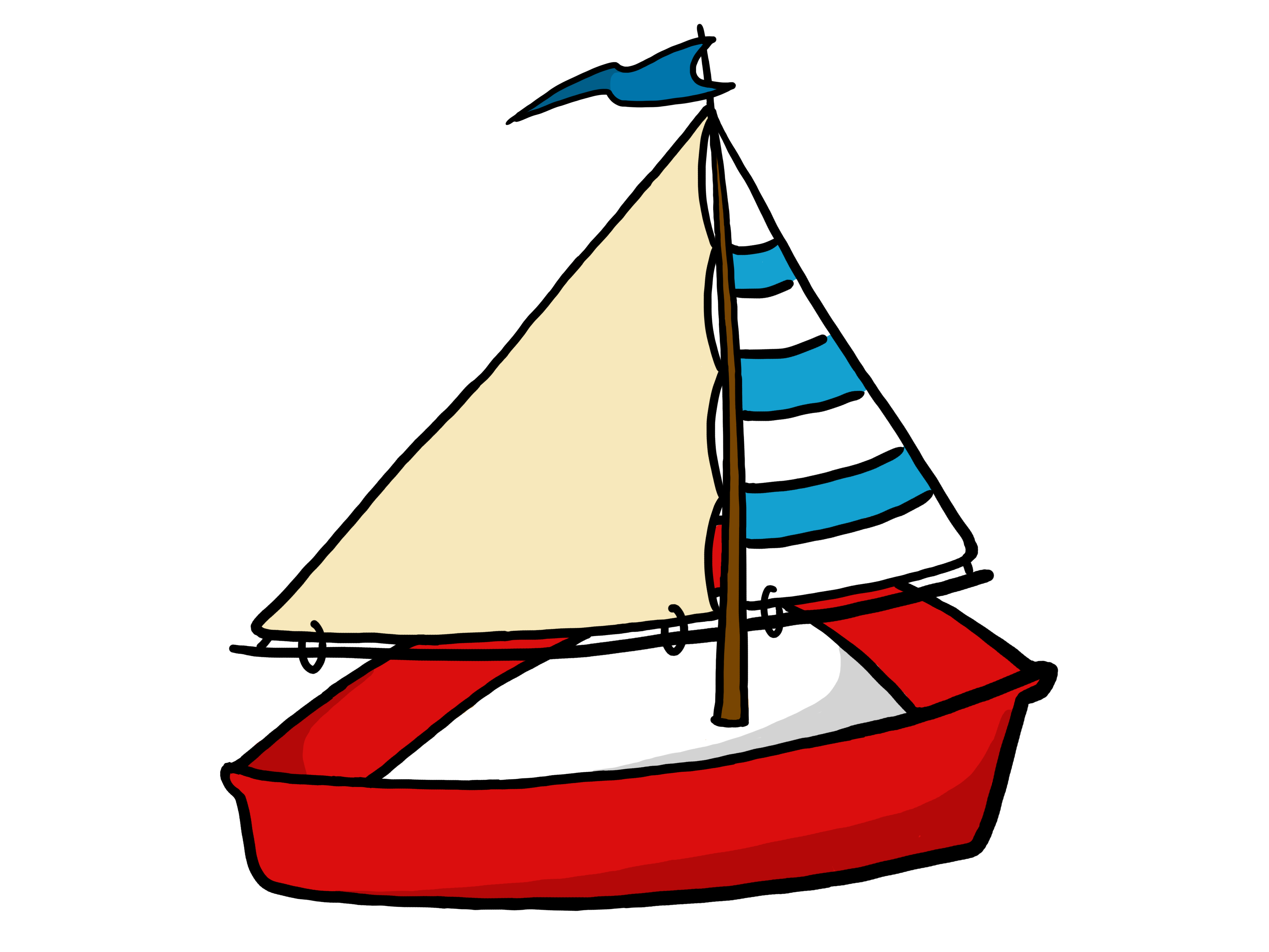 Simple sailboat clipart free images