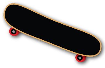 Skateboard clip art 2