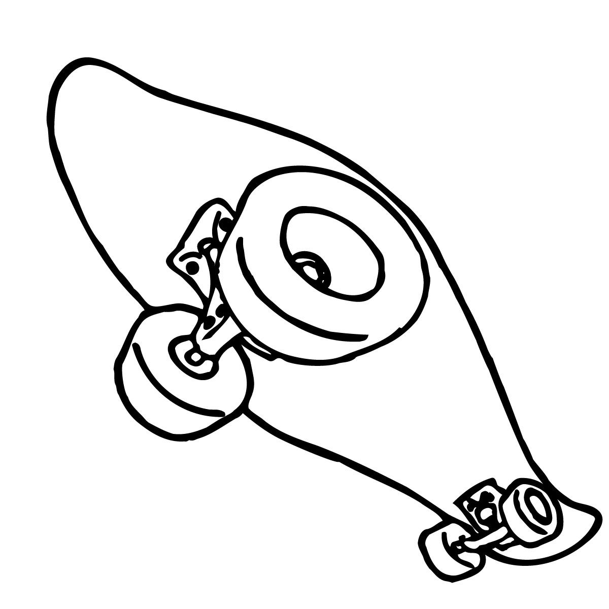 Skateboard clip art 3