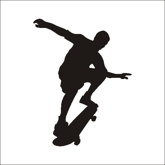 Skateboard clip art download 4
