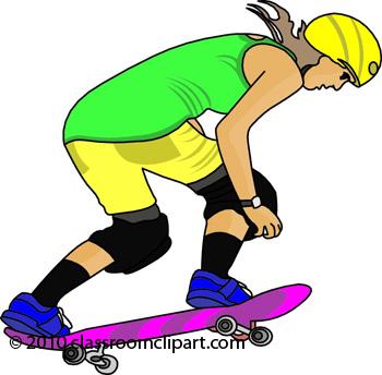 Skateboard clipart 1