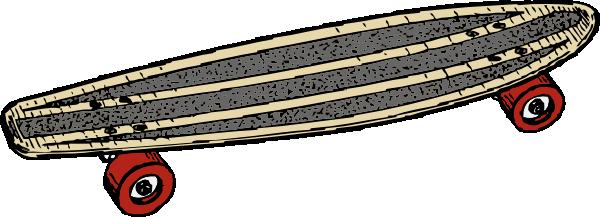 Skateboard clipart 2