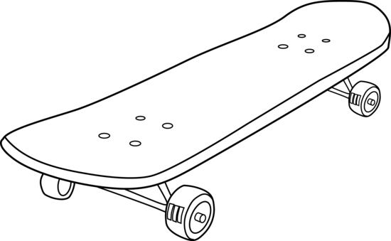 skateboard clipart black and white free 4 - wikiclipart