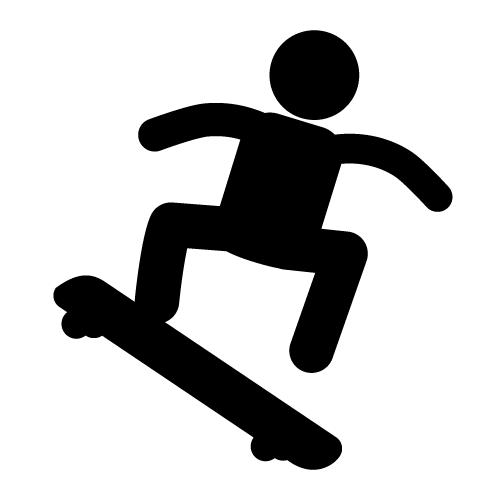 Skateboarding clip art free clipart images 2