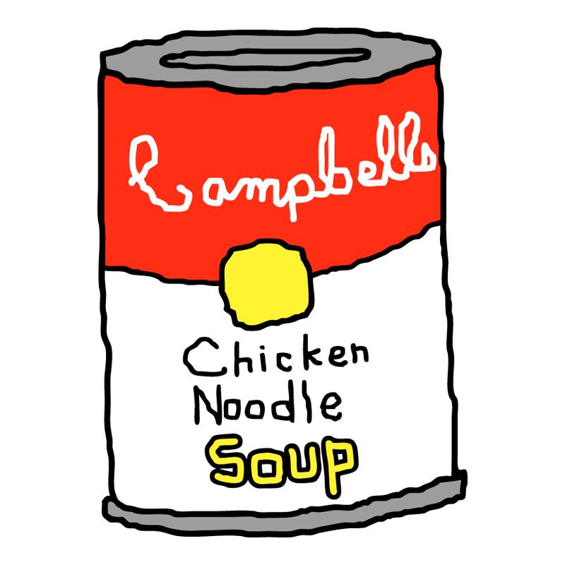 Soup cartoon campbell clipart