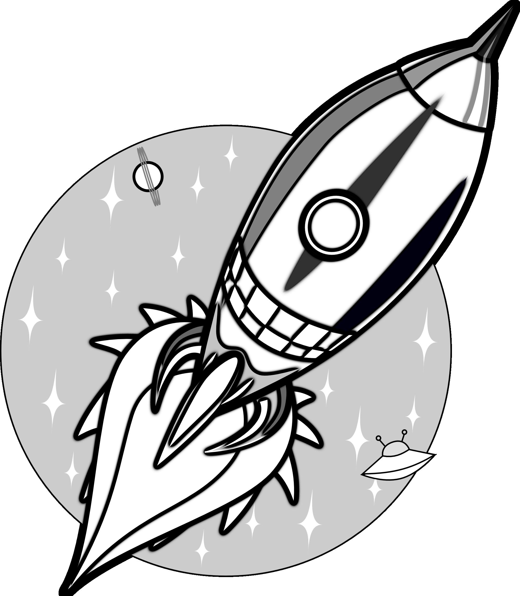 Space rocket clip art outline pics about space 2 image 2