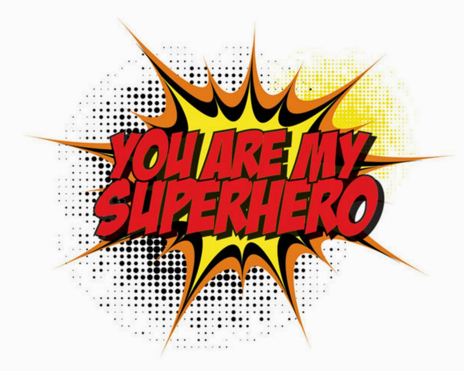Superhero words clip art 6