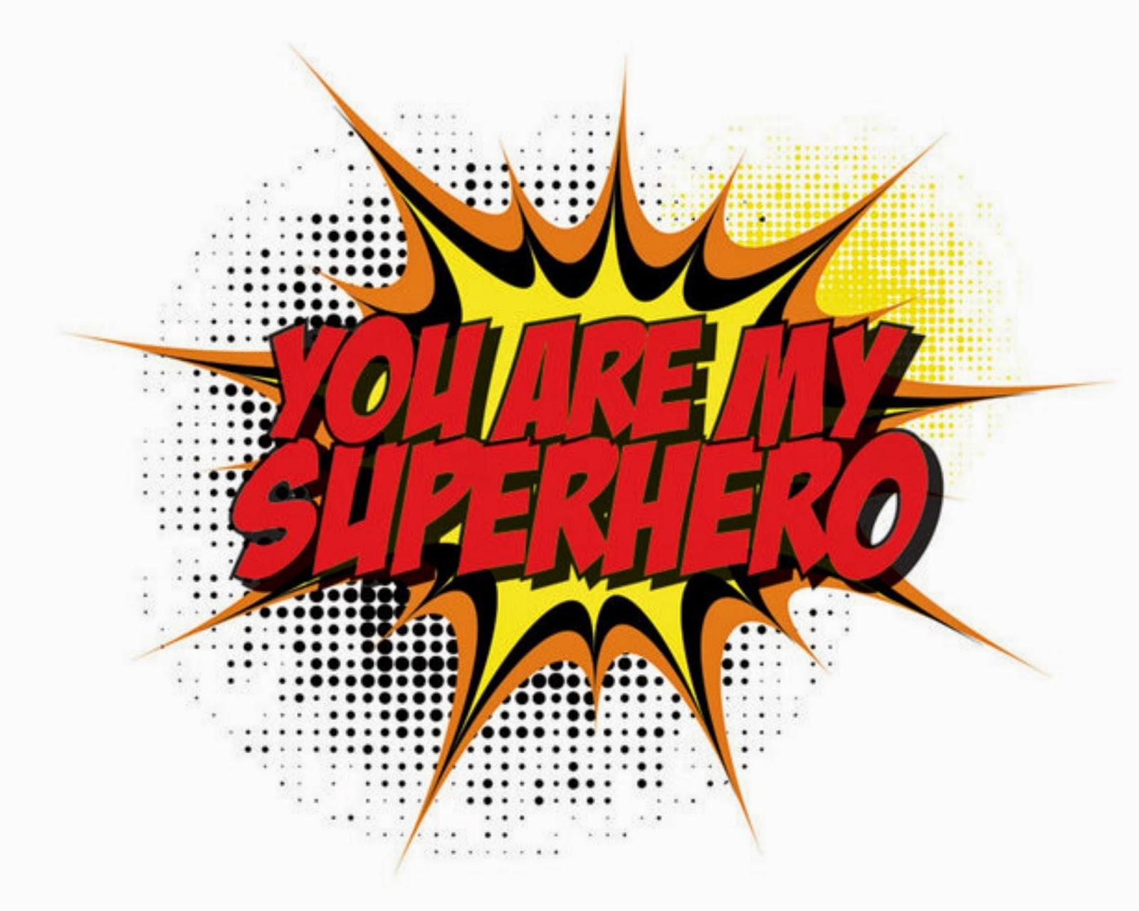 Superhero words clip art 6
