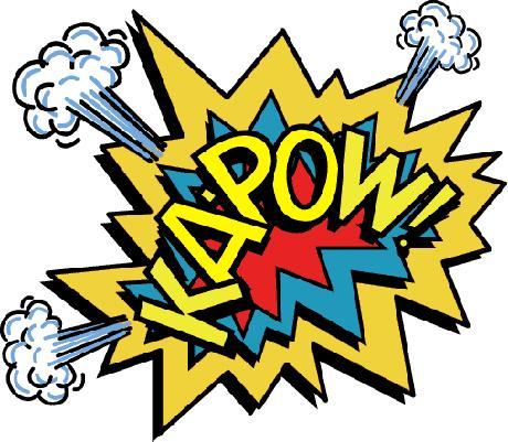 Superhero words clip art 8
