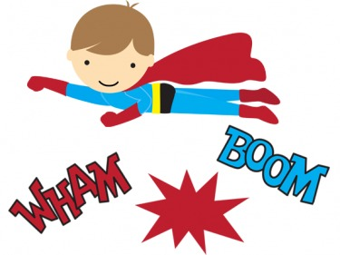 Superhero words super clipart