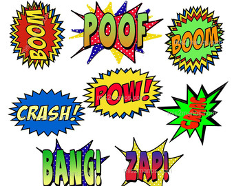 Superhero words super hero words clip art free clipart images 8