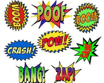 Superhero words super hero words clip art free clipart images 8
