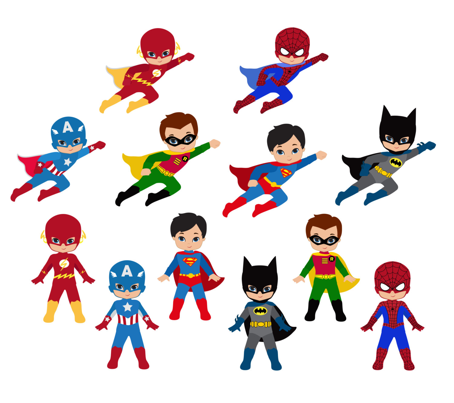 Superhero words superhero for teachers clipart 2