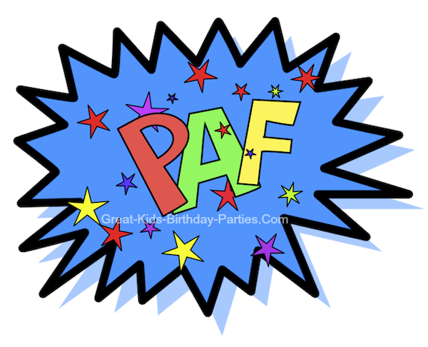Superhero words superhero printables clipart 7