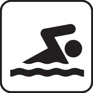 Swimming clip art at vector clip art