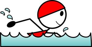 Swimming swim lesson clipart 3