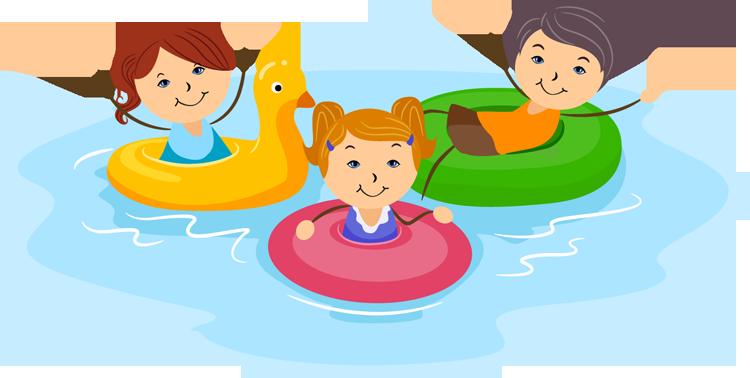 Swimming swim lesson clipart