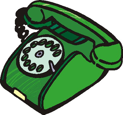 Telephone clip art 8
