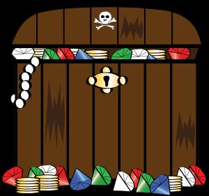 Treasure chest clip art free 2