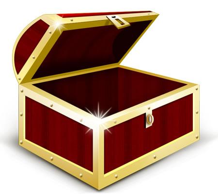Treasure chest clip art free 3