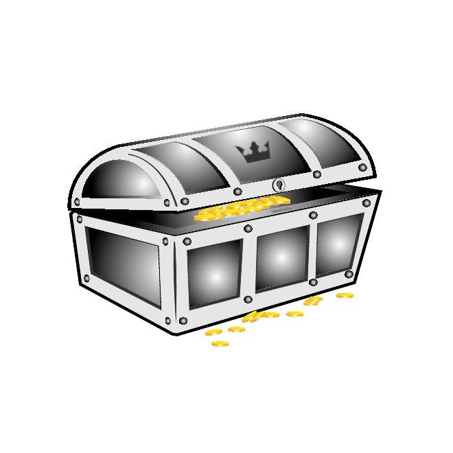 Treasure chest clip art free vector freevectors
