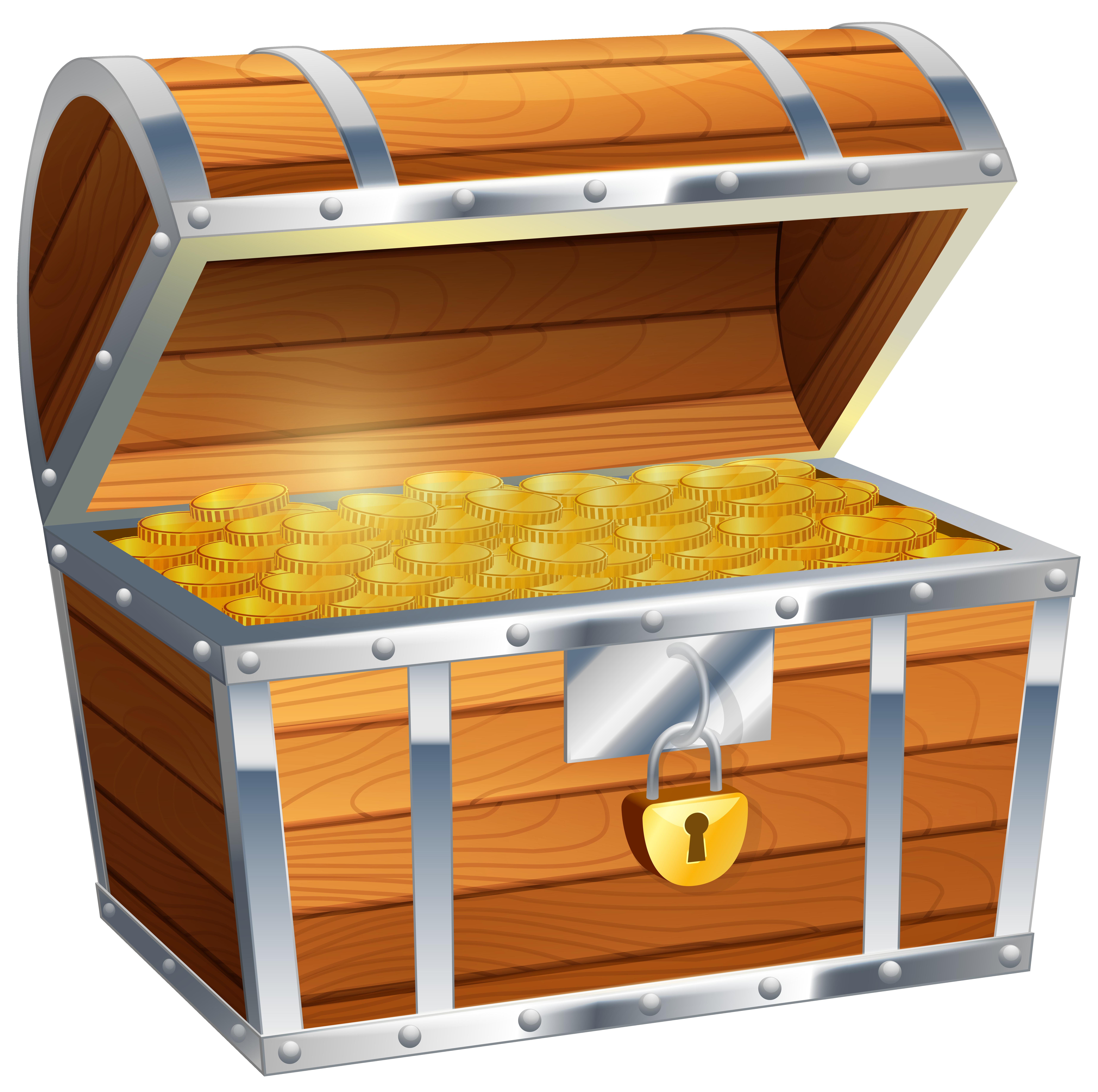 Treasure chest clip art image