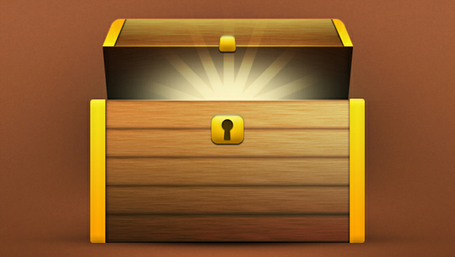 Treasure chest clip art vector graphics