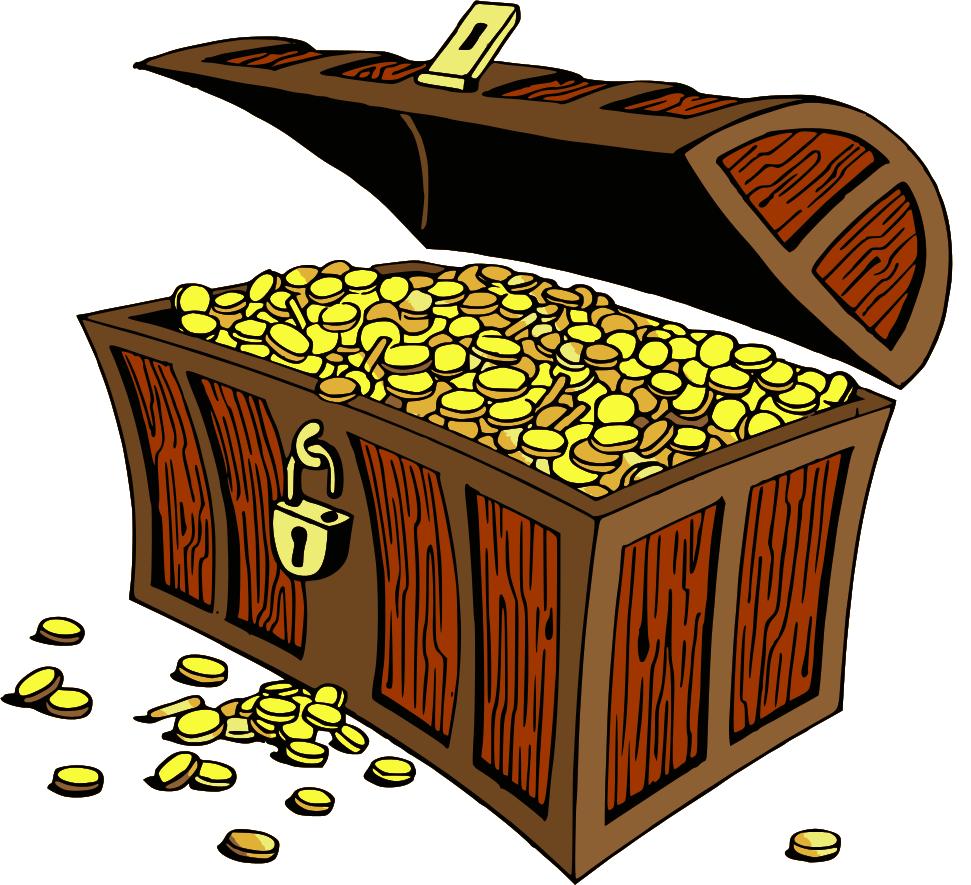 Treasure chest clip art vector treasure graphics image 2