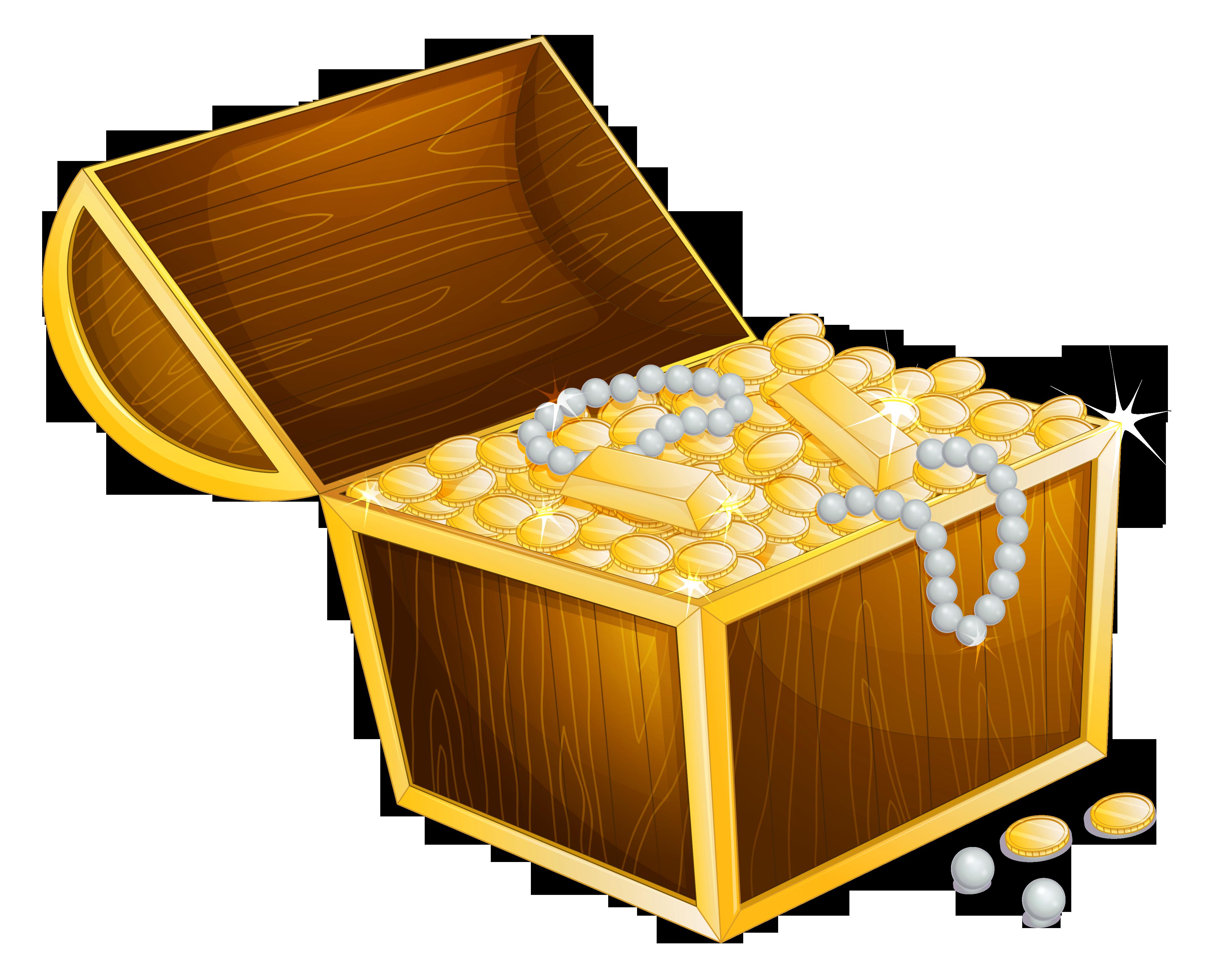 Treasure chest clip art vector treasure graphics image