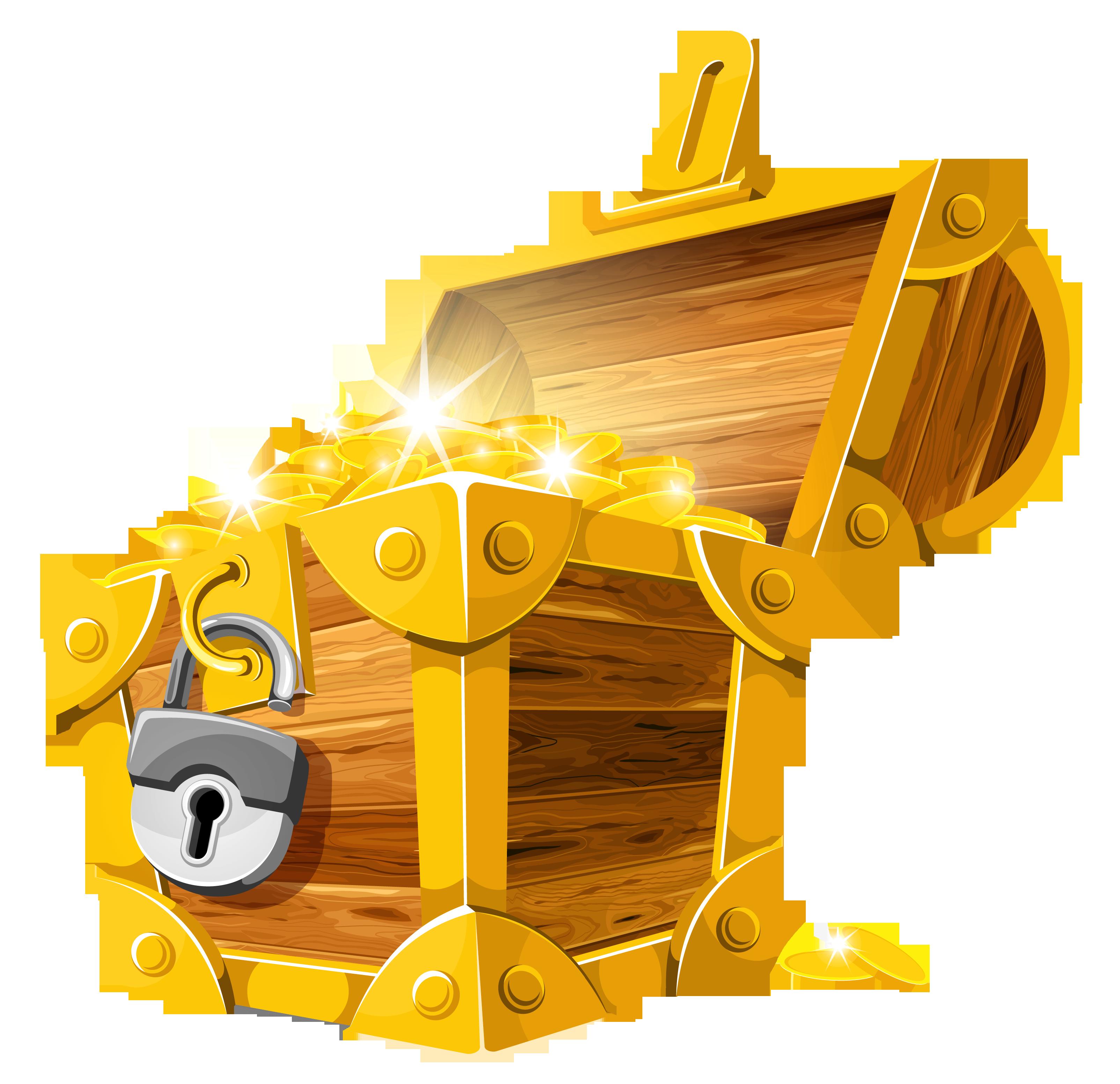 Treasure chest clipart 3